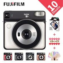 5 kolorów Fujifilm Instax SQUARE SQ6 Film natychmiastowy aparat fotograficzny rumieniec złoty grafit szara perła biały rubinowo czerwony