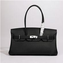 Women handbags genuine leather fashion luxury shoulder bag large space soft leather high-quality fabrics popular Silver buckle