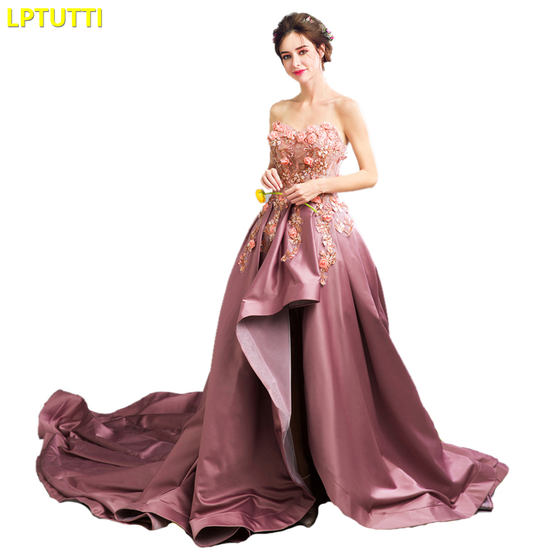 LPTUTTI Appliques Embroidery New For Women Elegant Date Ceremony Party Prom Gown Formal Gala Events Luxury Long Evening Dresses