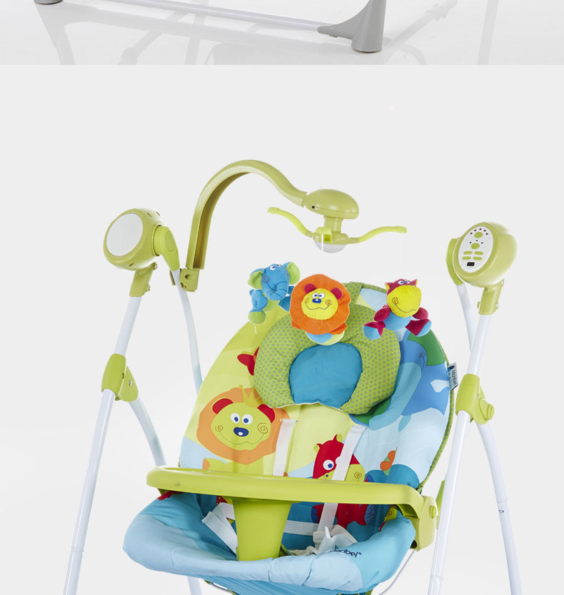 He3d7327a757845d38d3bdda58f11c6faE baby rocking chair baby electric rocking chair to appease the cradle bed Children's dining chair rocking chair with remote cont