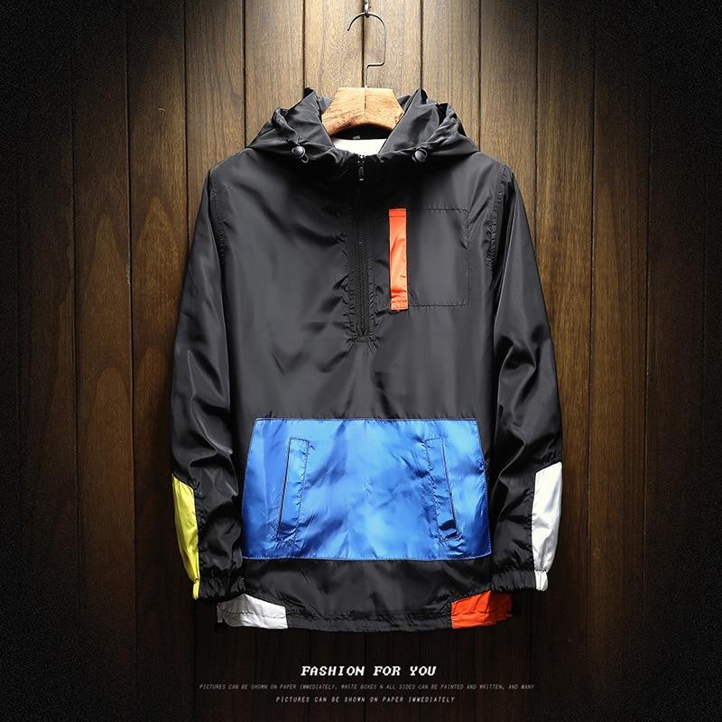 New Men's Jacket Waterproof Spring And Autumn Hooded Coat Coat Windbreaker Brand XL 5XL Autumn Thin Jacket Pullover Portswear