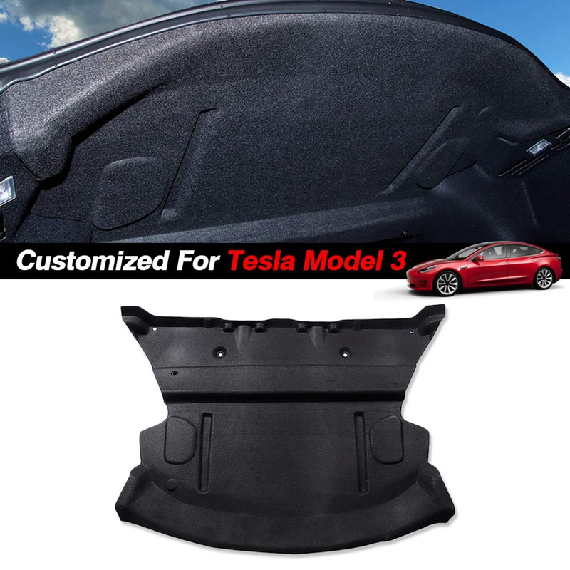 Car Trunk Noise Reduction Mat Customized For Tesla Model 3 Car Rear Trunk Soundproof Cotton Mat SoundProof Protective Pad