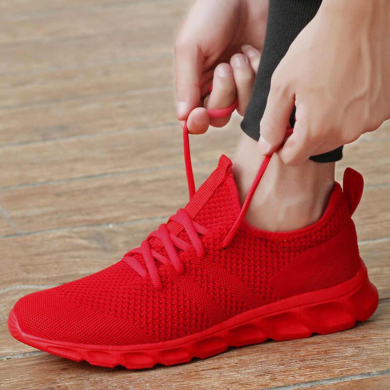 PURE สี Sneakers Man Jogging รองเท้าผู้ชาย Breathable 12 Flyknit ชายรองเท้าสีแดงสีดำ Dropshipping Mens รองเท้า
