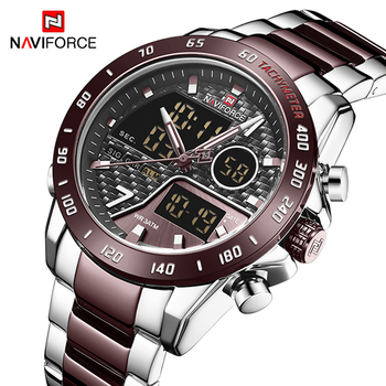 NAVIFORCE 9171# Men Digital Watch LED Sport Waterproof Clock with box