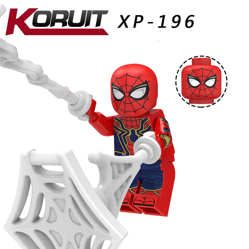 Single Sale Compatible Legoinglys Far From Home Figures Spider-man Armor Cyborg Venom Battle Suit Bricks Diy Toy Boy Gift Kt1027