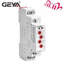 Ücretsiz kargo GEYA GRV8 04 üç fazlı voltaj kontrolü röle faz sırası faz hatası aşırı gerilim düşük gerilim koruma