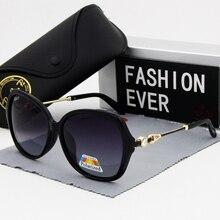 مجموعة في الحفر نظارات نسائية الاستقطاب موضة خمر إطار كبير 2019 جديد ماركة مصمم الإناث القيادة نظارات شمسية UV400