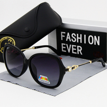 Set in drill Women glasses polarized fashion Vintage Big frame 2019 new Brand Designer Female driving sun glasses  UV400