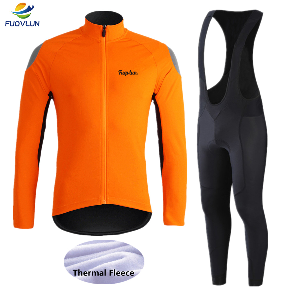 FUQVLUN 2020 Keep Warm Cycling Jersey Set Ropa Ciclismo Invierno Bicycle Clothing Winter Thermal Fleece Bike Clothes Cycling Set