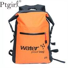 25L Outdoor Waterproof Swimming Bag Backpack Bucket Dry Sack Storage Rafting Sports Kayaking Canoeing Travel