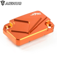 цена на Motorcycle CNC Front Brake Fluid Reservoir Cover Cap Fits For KTM Duke 125 200 390 duke 690 LC4 Enduro  2013 2014 2015 2016