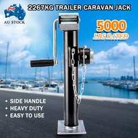 Trailer Jack 5000LBS Yacht Trailer Parts Caravan Jack Wheel Heavy Duty Metal Stand For Boats RV's Campers and Trailers