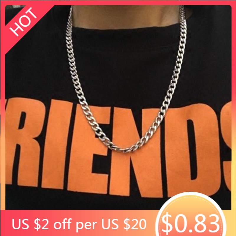 Chains necklace mens Stainless Steel long Necklace Women Best Friends Hip Hop...