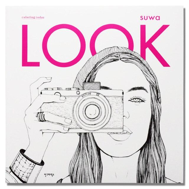 96 דפים אופנה לחפש צביעה ספרים למבוגרים ילדי בנות antistress אמנות ציור ציור סוד גן צביעת ספר Libros