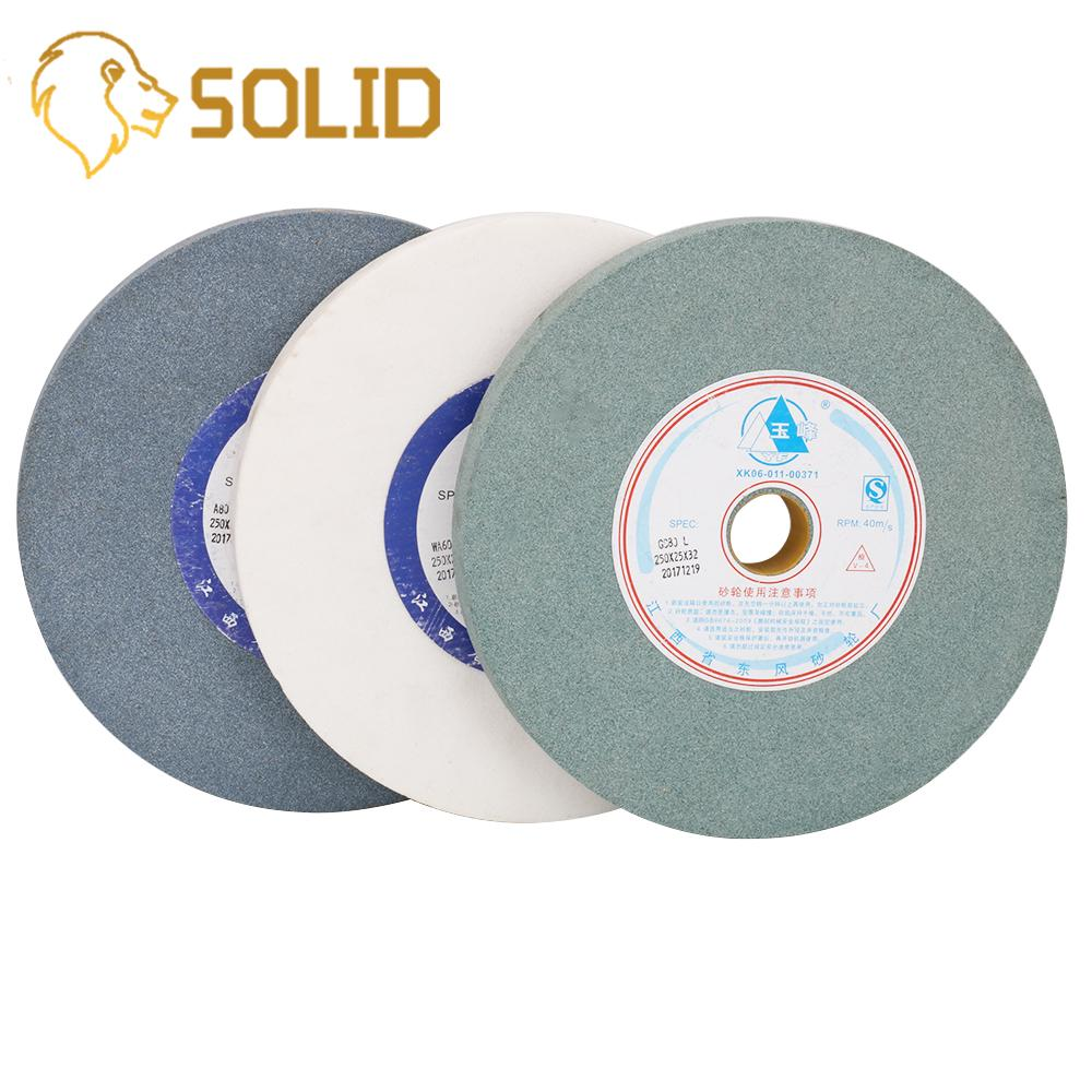 250x25x32mm  White/Green/Blue Corundum Grinding Wheel Green Carbon Ceramic Grinding Wheel For Stainless Steel 60/80#