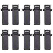 10Pcs Walkie Talkie clamps Spare Part Back Belt Clip for Baofeng 2-way Radio UV5R For Baofeng intercom UV5R / 5RA / 5R + / 5RB /(China)