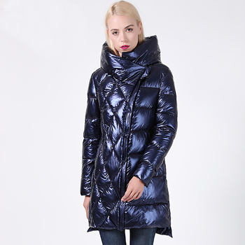 2019 New Winter Jacket Women Glitter Plus Size Hooded Long Women's Winter Coat Hooded Thick Biological-Down Jacket Parka Docero