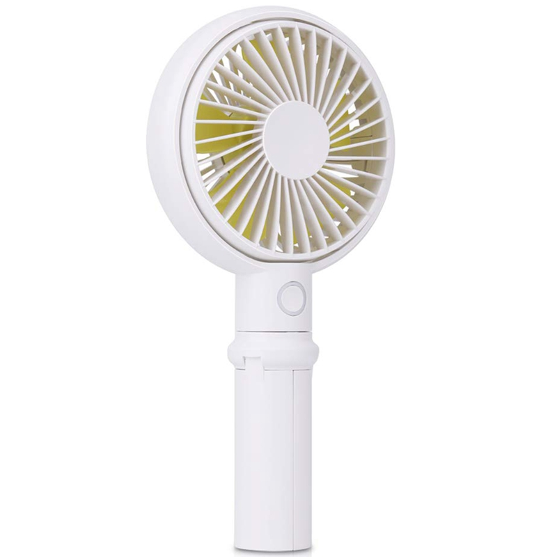 Mini USB Desk Fan Handheld Summer Cooler Fan with Light Silent Portable Desktop Gadget Fan Adjustable Speed Fan Quiet Operation Fan Electrical Rechargeable Cooling Fan for Office Home Car Stroller