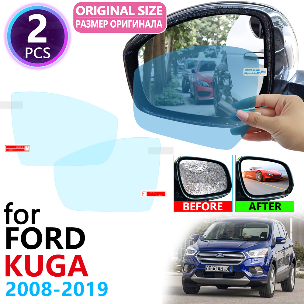 For Ford KUGA Escape MK1 MK2 2008~2019 Full Cover Rearview Mirror Anti-Fog Rainproof Anti Fog Film Accessories 2010 2015 2018