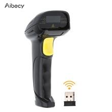 Aibecy 2 em 1 2.4g scanner de código de barras sem fio & usb com fio scanner de código de barras 1d leitor de scanner de código de barras handheld automático