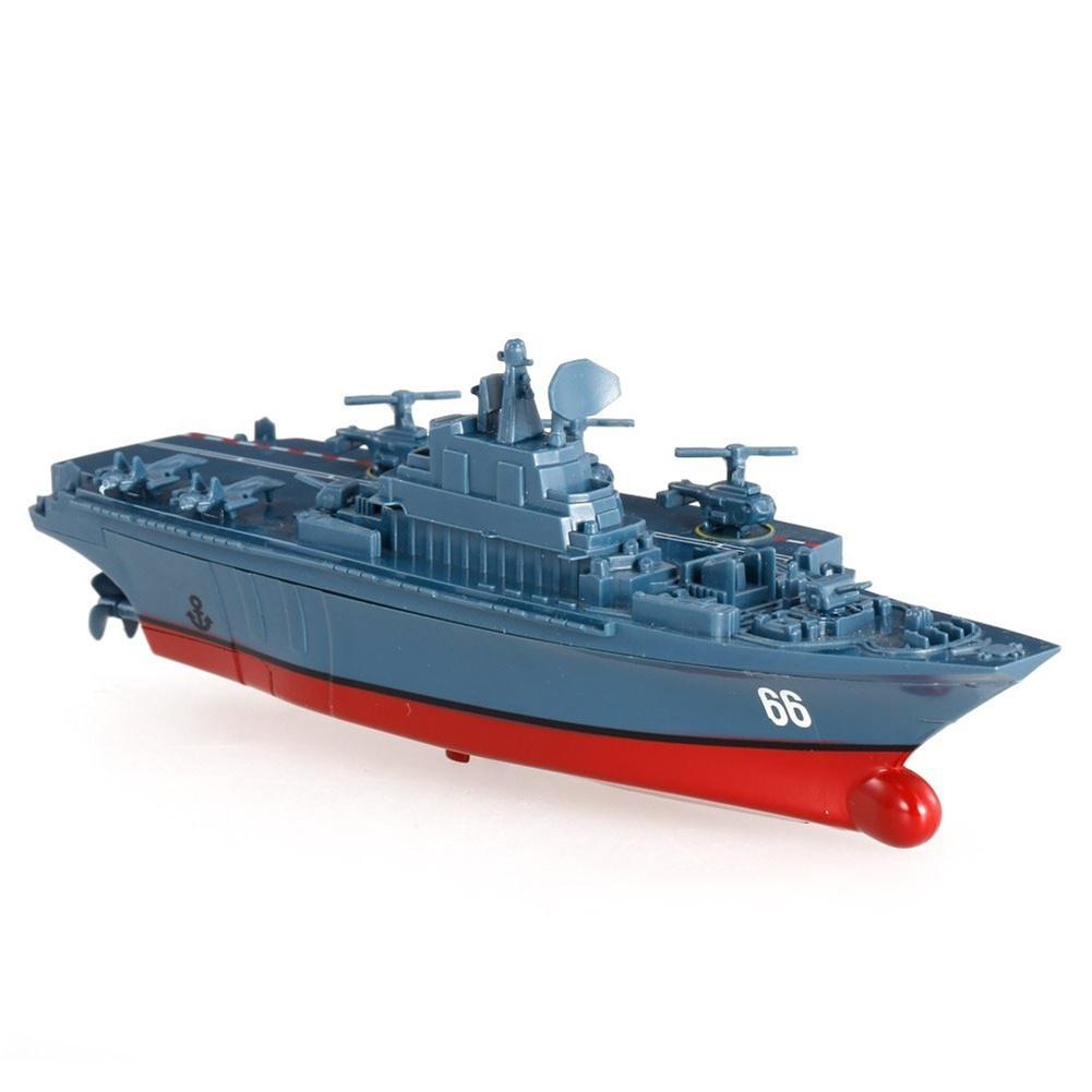 Kuulee 2.4G Remote Control Military Warship Model Electric Toys Waterproof Mini Aircraft Carrier/Coastal Escort Gift For Kids