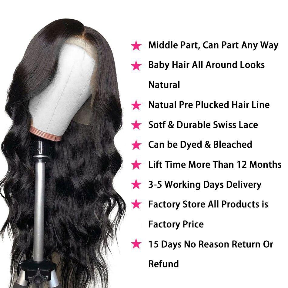 Soul Lady Кружевные передние человеческие волосы парики перуанские объемные волнистые кружевные передние парики предварительно выщипанные с ... - 3