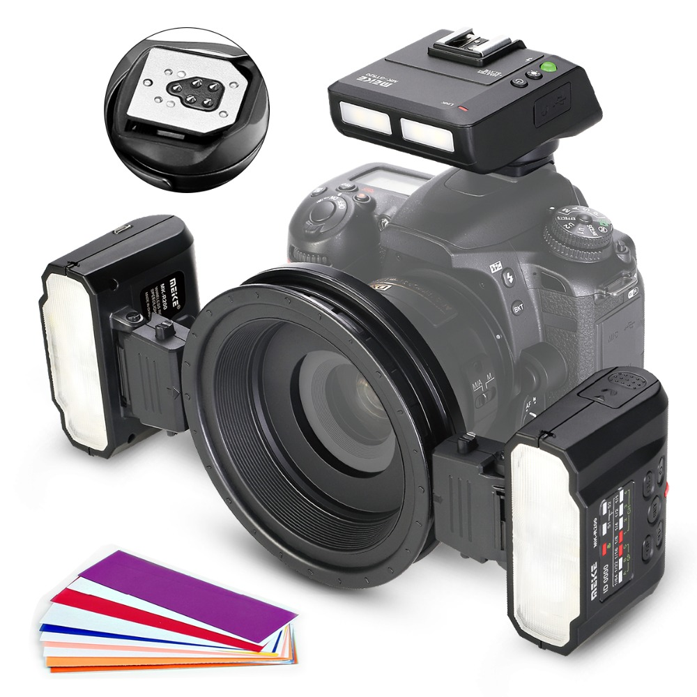 Meike MK MT24 Macro Twin Lite Speedlight Flash for Canon DSLR Camera 1100D 1200D 70D 60D 760D 750D 700D 650D 600D 550D 6D 7D|Flashes| |  -