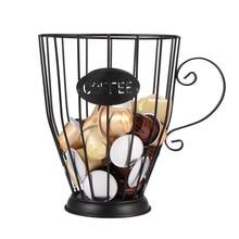 Универсальный хранение кофейных капсул корзина кофейная чашка корзина Винтаж пакетик кофе организатор держатель черный для дома Cafe Hotel