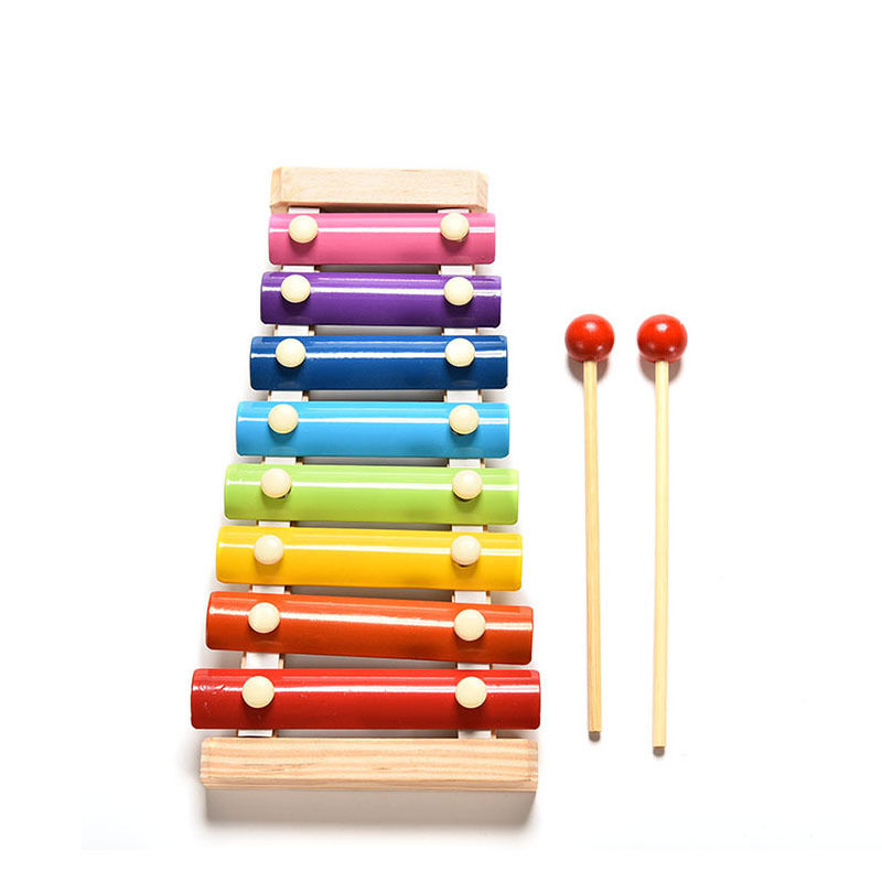 Learning&Education Wooden Xylophone For Children Kid Musical Toys Xylophone Wisdom Juguetes 8-Note Music Instrument 4