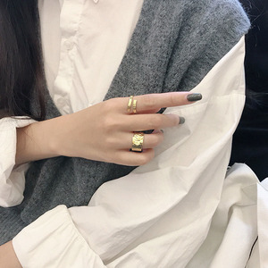 Image 5 - SSTEELไม่สม่ำเสมอROCK Textureแหวนผู้หญิงแหวนเงิน 925 Anillo Plata 925 Mujer Parure Bijoux Femme 2019 Bague