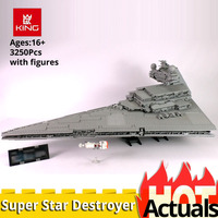 KING 05027 UCS LEGOinglys 10030 Super Star Destroyer Starship model Wars building construction toy Blocks Brick christmas gift