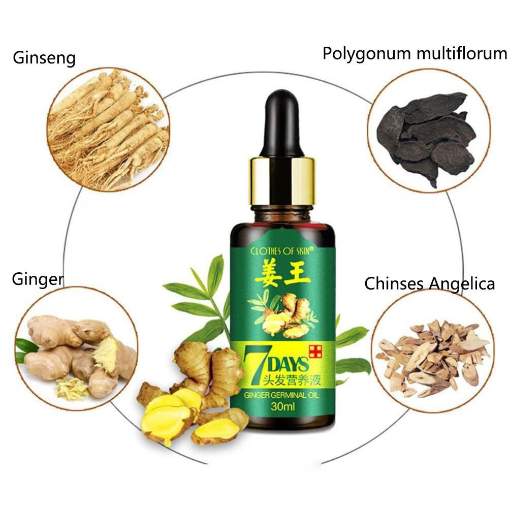 Image 2 - 7 Days Ginger Essence Hairdressing Hairs Mask Hair Essential Oil Hair Care Essential Oil Dry and Damaged Hairs Nutrition TSLM2-in Hair Loss Products from Beauty & Health