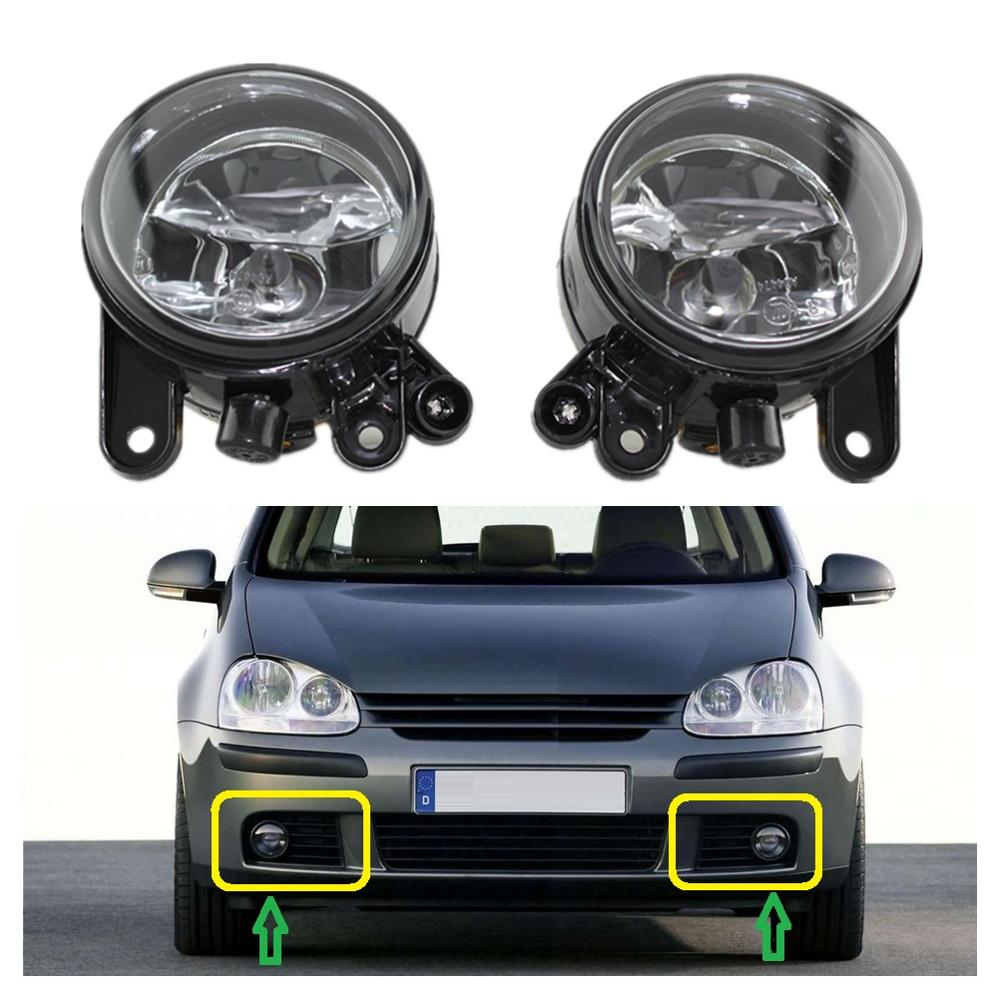 2pcs Car Light For VW Golf 5 V MK5 R32 2004 2005 2006 2007 2008 2009 Car-styling Front Bumper Halogen Car Fog Light Fog Lamp