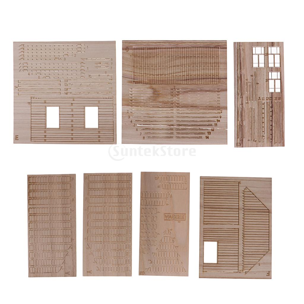 <font><b>1/35</b></font> Ruined European House <font><b>Model</b></font> Scenes Unassembled Scenery Layout DIY <font><b>Kits</b></font> image