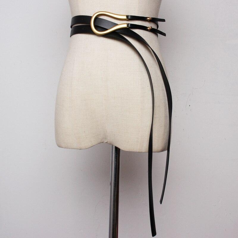 Belt Lady Belt Fashion Horseshoe Buckle Coat Decoration With Coat Suit Waist Seal Black Belt Designer Belts Men High Quality.
