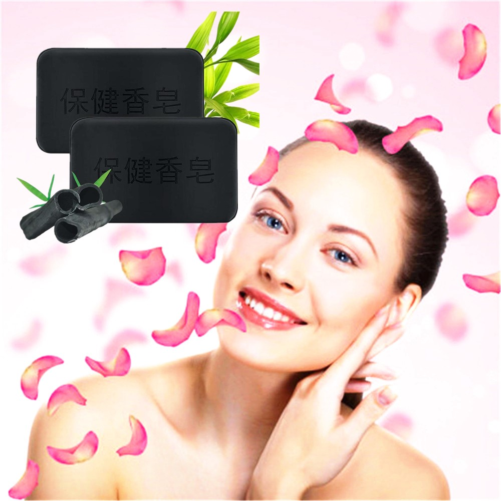 Deep Antiallergic Facial Soap For Men And Women Skin Care Whitening Skin Remove Acne Cleaning Dirt Anti Aging 40g Black Soap