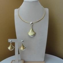 YUMINGLAI Bridal Gift Nigerian Wedding African Jewelry Set Brand Woman Fashion Dubai Gold Color Jewelry Set FHK9400