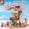 Sembo Blocks Girls Gift Kids Building Toys Sakura Puzzle With Lighting 601076 no box