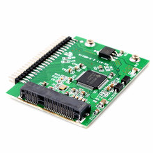 Buyincoins MSATA SSD 55mm x 40mm SSD do 2 5 44PIN IDE HDD wysokiej jakości płyta karty adaptera tanie tanio Kabel adaptera Zdjęcie 55362
