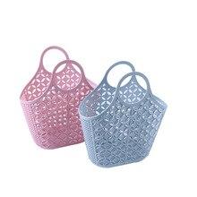 Мягкая ручная пластиковая корзинка, корзина для ванной, корзины для хранения, корзина для покупок