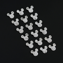 10 pcs High Quality Glitter Full Drill Mouse Nial Art Decorations Alloy Rhinestones 3d Nail Jewelry Charms For Nails