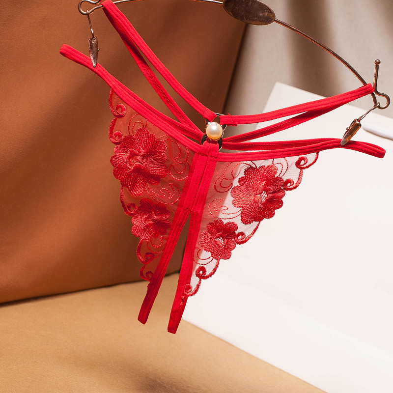 Sexy Erotic Lingerie Women Lace Open Crotch Panties Sexy Bandage Briefs Crotchless Female Thong Hot Sex Transparent Underwear