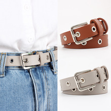 Belt Waistband Square-Pin Faux-Leather Cinturones Female Jeans Buckle Hollow for Para
