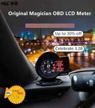Car Gauge Magician English Version F8 F835 OBD2 Digital Boost Profession Display Voltage Speed Water Temp Alarm Auto Diagnostic