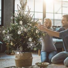 2Pcs snowflake decoration pendant Christmas tree party holiday supplies