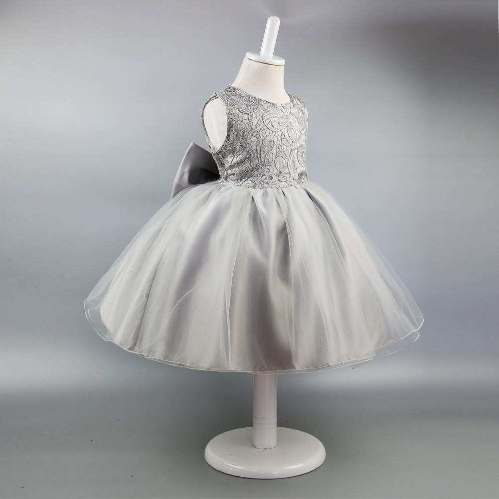 Hot Selling GIRL'S Gown Dress Children Wedding Dress Big Butterfly Princess Dress Piano Costume