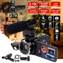 2.7K Camcorder Video Camera Wifi IR Night Vision 30MP 3.0 Inch LCD HD Screen Tim