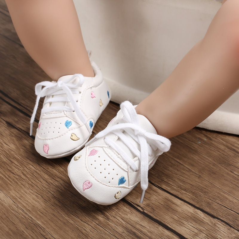 Casual Baby Shoes Infant Baby Girl Crib Shoes Cute Soft Sole Prewalker Sneakers Walking Shoes Toddler First Walker 3