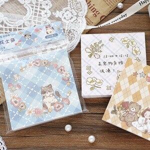 100 Sheet/Pack Cute Cat Sheep Bear Animals Memo Pad Sticky Notes Kawaii Planner Scrapbooking Stationery School Office Supplies