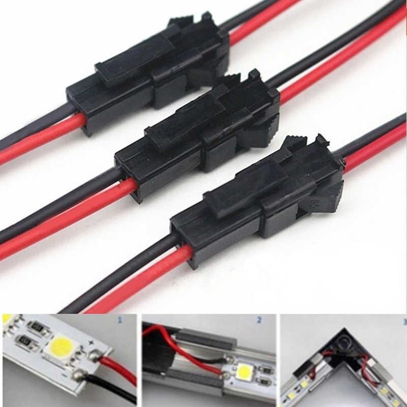 Conjunto de 20 unidades de conector macho a hembra, cable de Terminal, cable con Terminal para lámpara de techo de luz LED descendente